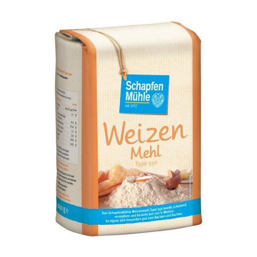 Weizenmehl Type 550, 1 kg